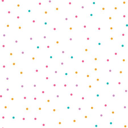 size: Cute circle seamless pattern on white background. Vector illustration for bright happy design. Light color. Round dot shape. Random size spot Art decorative wallpaper Pack of random circle shape