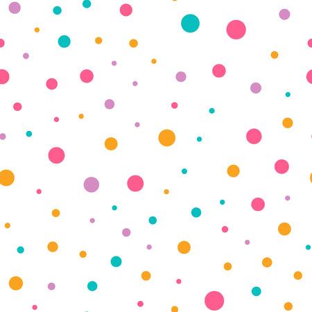 Cute circle seamless pattern on white background Ilustracja