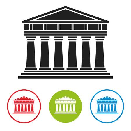 Bank, Gerichtsgebäude, Parthenon Architektur Symbol