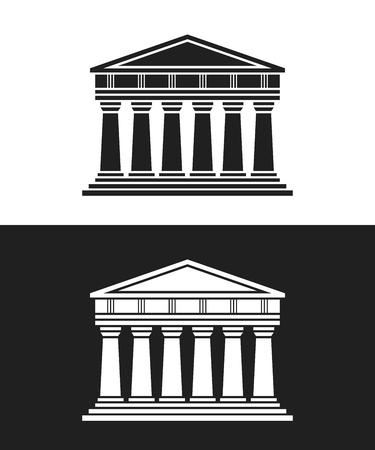 antiquity: Parthenon architecture greek temple icon