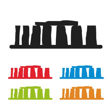 english culture: Stonehenge icon isolated on white background. Vector illustration