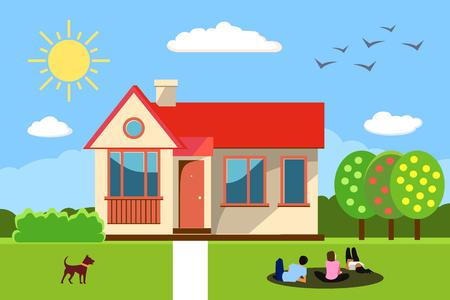 Huis concept. Vector illustratie