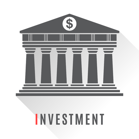 Bank concept icon isolated on white background Ilustracja