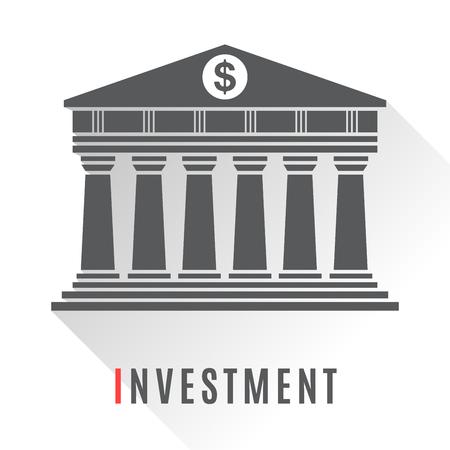 Bank concept icon isolated on white background Illustration