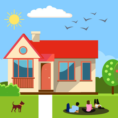 Home concept. Vector illustration