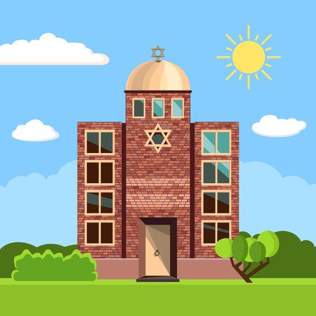 Jewish synagogue icon. Vector illustration