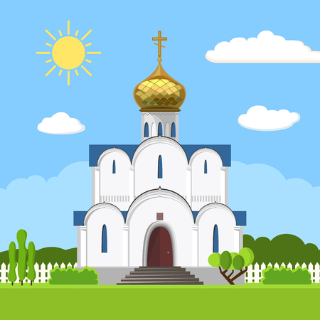 Russian orthodox church icon isolated on white background