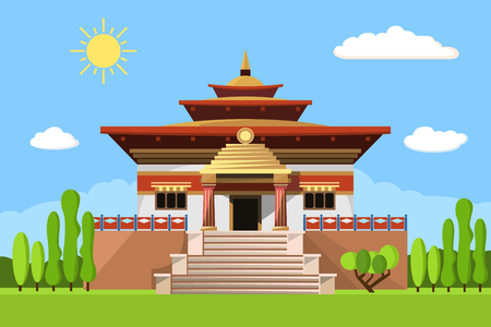 Temple of Heaven icon isolated on white background Illustration