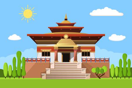 Temple of Heaven icon isolated on white background Ilustracja