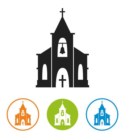 Church icon isolated on white background. Illustration