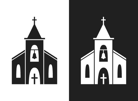 Church icon isolated on white background. Illustration