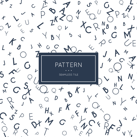 English letter pattern. Ilustracja