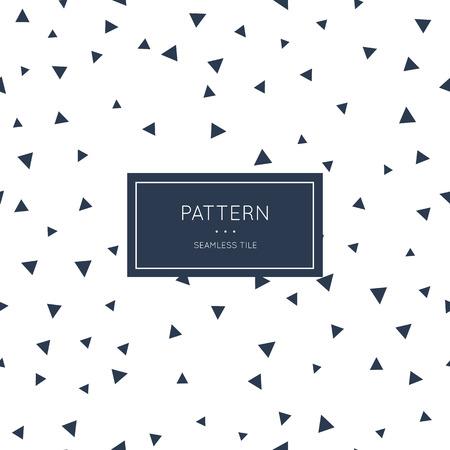 Geometric triangle pattern