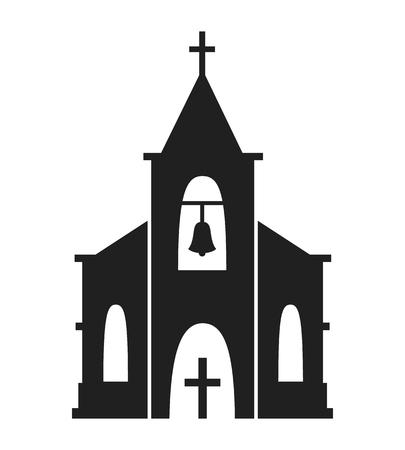 Church icon isolated on white background. Ilustracja
