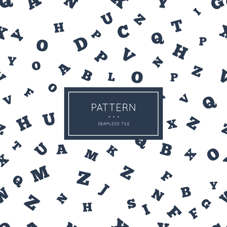 English letter pattern. Illustration