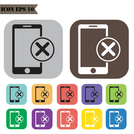 offline: Offline mode icons set.illustration