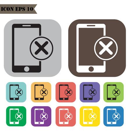 Offline mode icons set.illustration