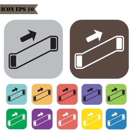 Escalator icons set.illustration