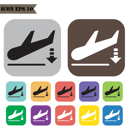 Airport iconen Set.Illustration