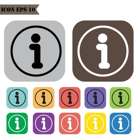 Information icons set.illustration