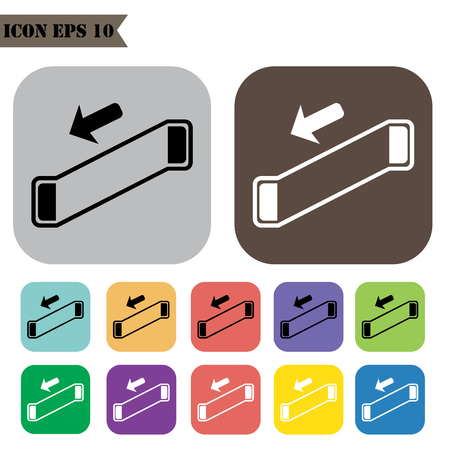 escalator: Escalator icons set.Vector illustration Illustration