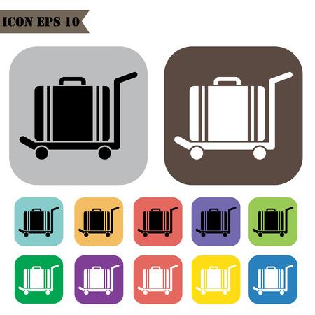 valise: Luggage icons set.Vector illustration