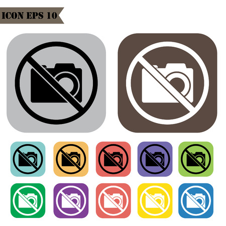allow: No photography allow icons set.Vector illustration