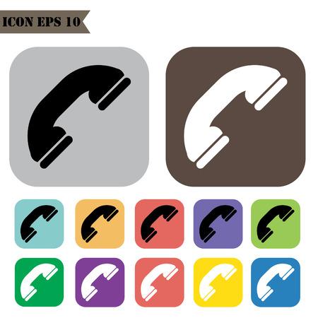 telephone icons: Telephone icons set.Vector illustration