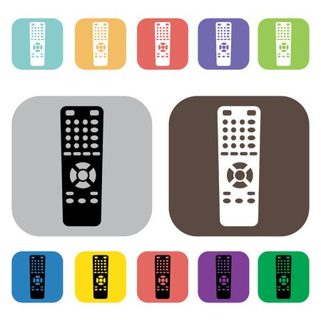 remote: Remote icons set illustration Illustration