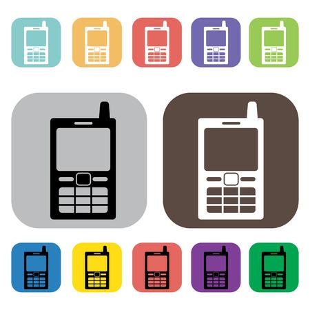 telephone icons: Telephone icons set illustration Illustration