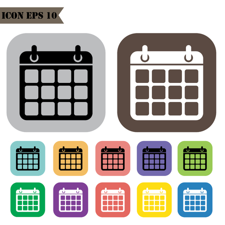 calender icon: Calender icon set.Vector illustration Illustration