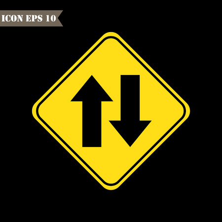 two way traffic: Two Way Traffic sign.Vector illustration