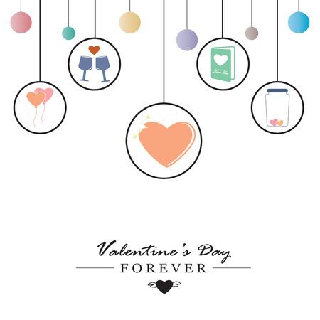 calendar icon: Valentine infogeaphic. Vector Illustration