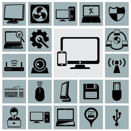 lcd: Computer service icon.Vector illustration