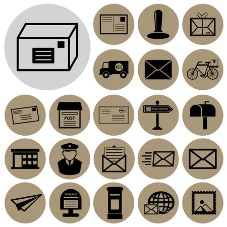 envelope: Post service icon.Vector illustration Illustration