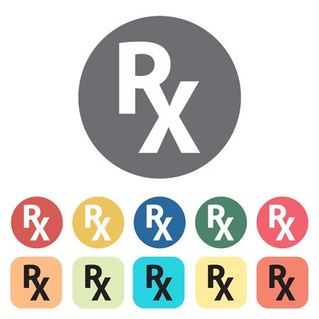 Pharmacy icons set.Vector illustration.