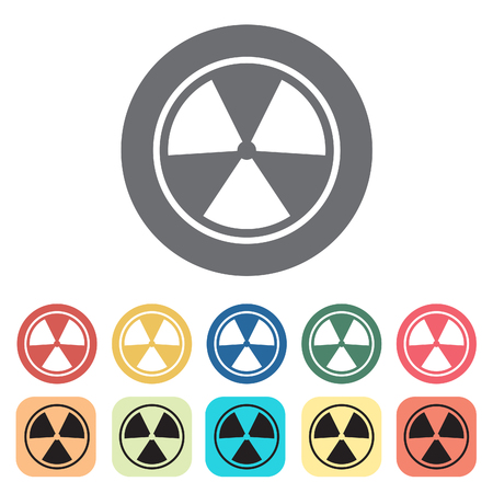 plutonium: Radiation icons set.Vector illustration.