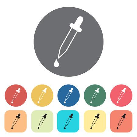 Dropper icons set.Vector illustration.