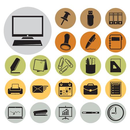 Office icon set.Vector illustration Illustration