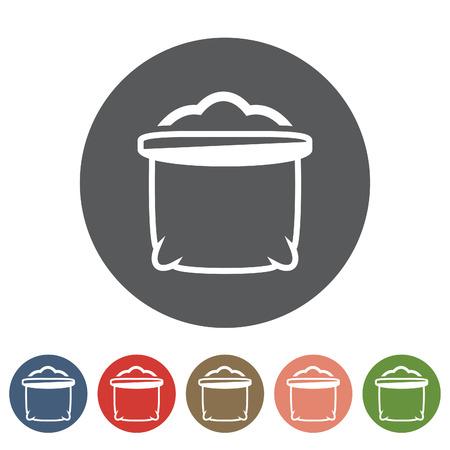 Sack icon set.Vector illustration