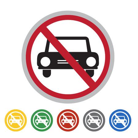 No access to car icon set.Vector illustration