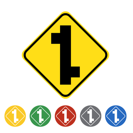 t square: T-junction icon set.Vector illustration