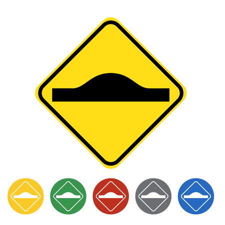 Unequal road surface icon set.Vector illustration