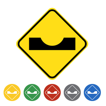 dimple: Dimple road traffic icon set.Vector illustration
