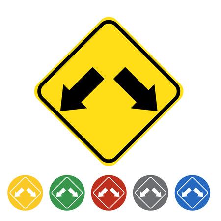 Pass either side icon set.Vector illustration Illustration