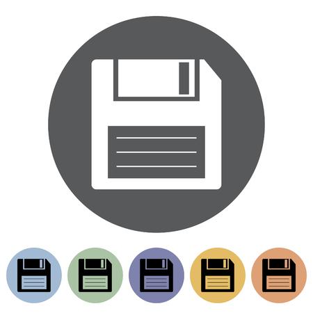 Disk icon Vector illustration