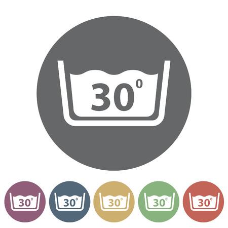 Temperatuur wassen pictogram Vector illustratie