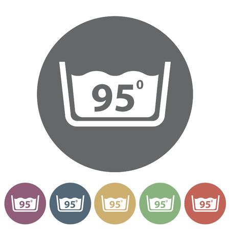 Temperatuur wassen pictogram Vector illustratie Stockfoto - 80942962