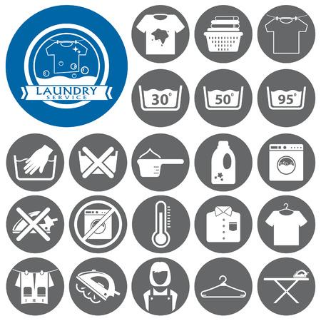 laundry hanger: Laundry icon.Washing icon.Vector illustration Illustration