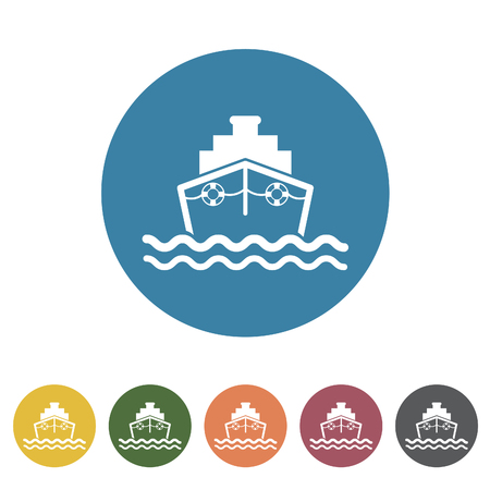 Ship icon.Vector illustration
